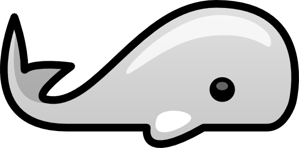 Blue whale clipart image 5