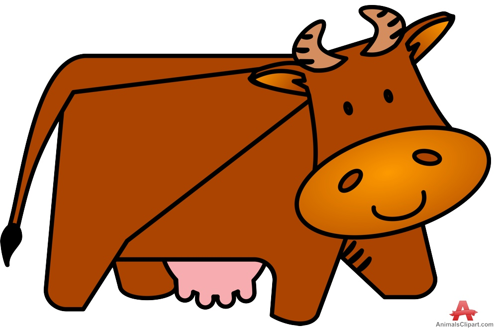 Brown cow clipart free design download