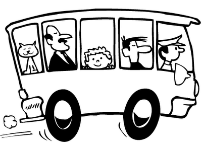 Bus clipart black and white many interesting cliparts