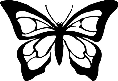 Butterfly black and white butterfly clipart free