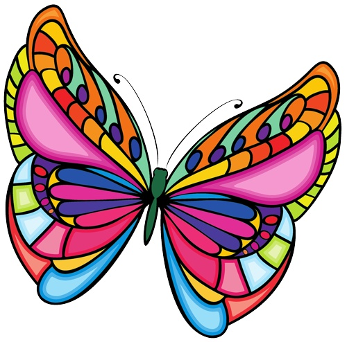 Butterfly clip art images on projects