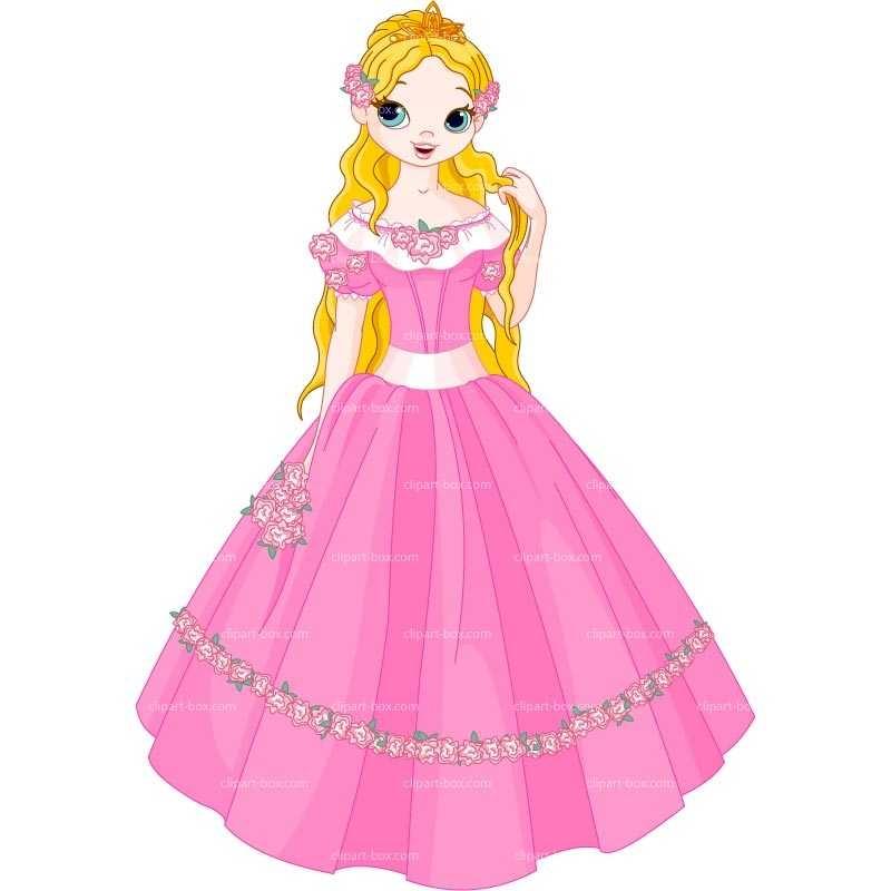Cartoon princess clipart collection on pink princess cartoon