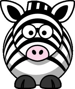 Cartoon zebra clip art at vector clip art