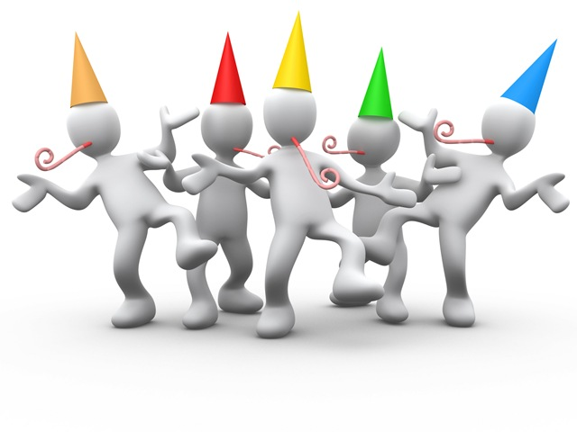 Celebration adult birthday party clip art free clipart images