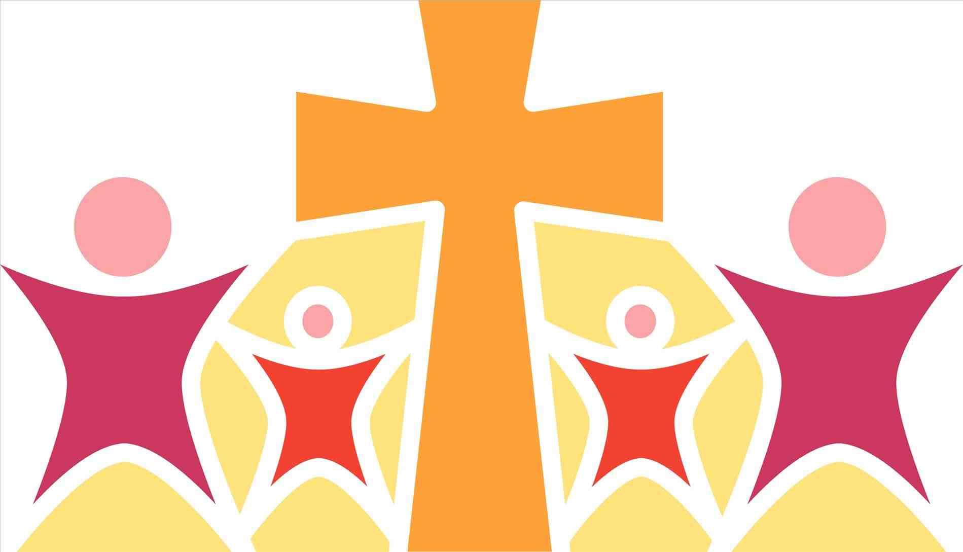 Christmas cross clipart