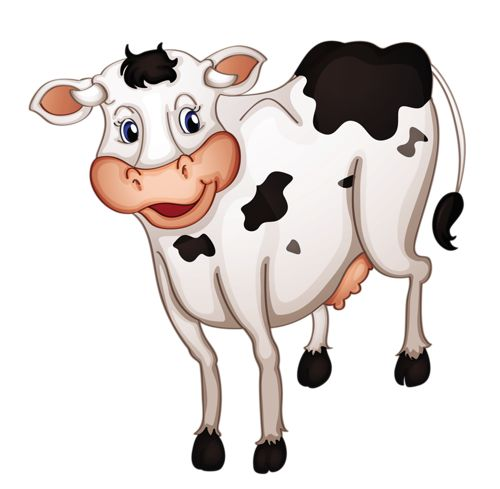 Clipart cow images on fabric painting cows