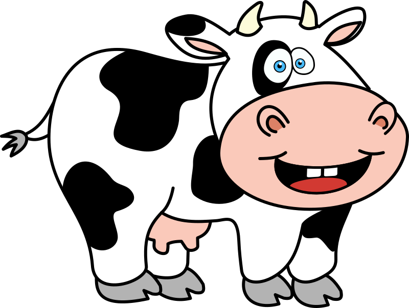 Clipart funny cow