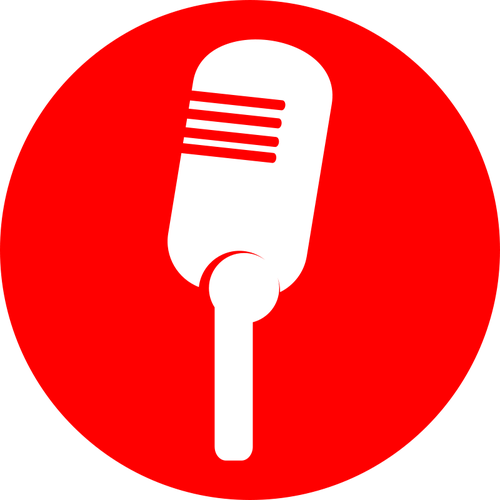 Clipart radio microphone vectors