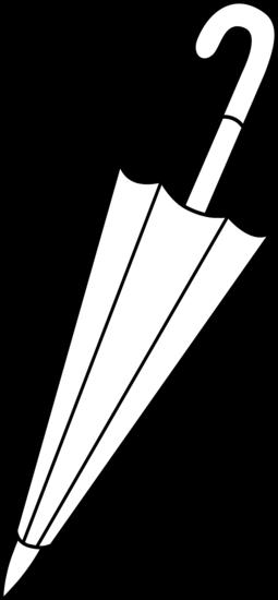 Closed umbrella line art free clip clip art