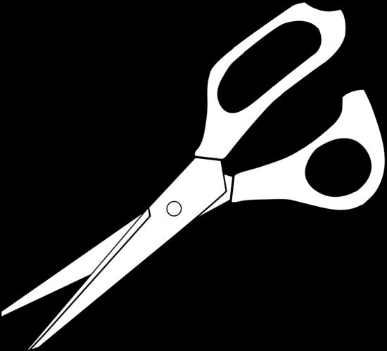 Colorable scissors line art free clip clip art