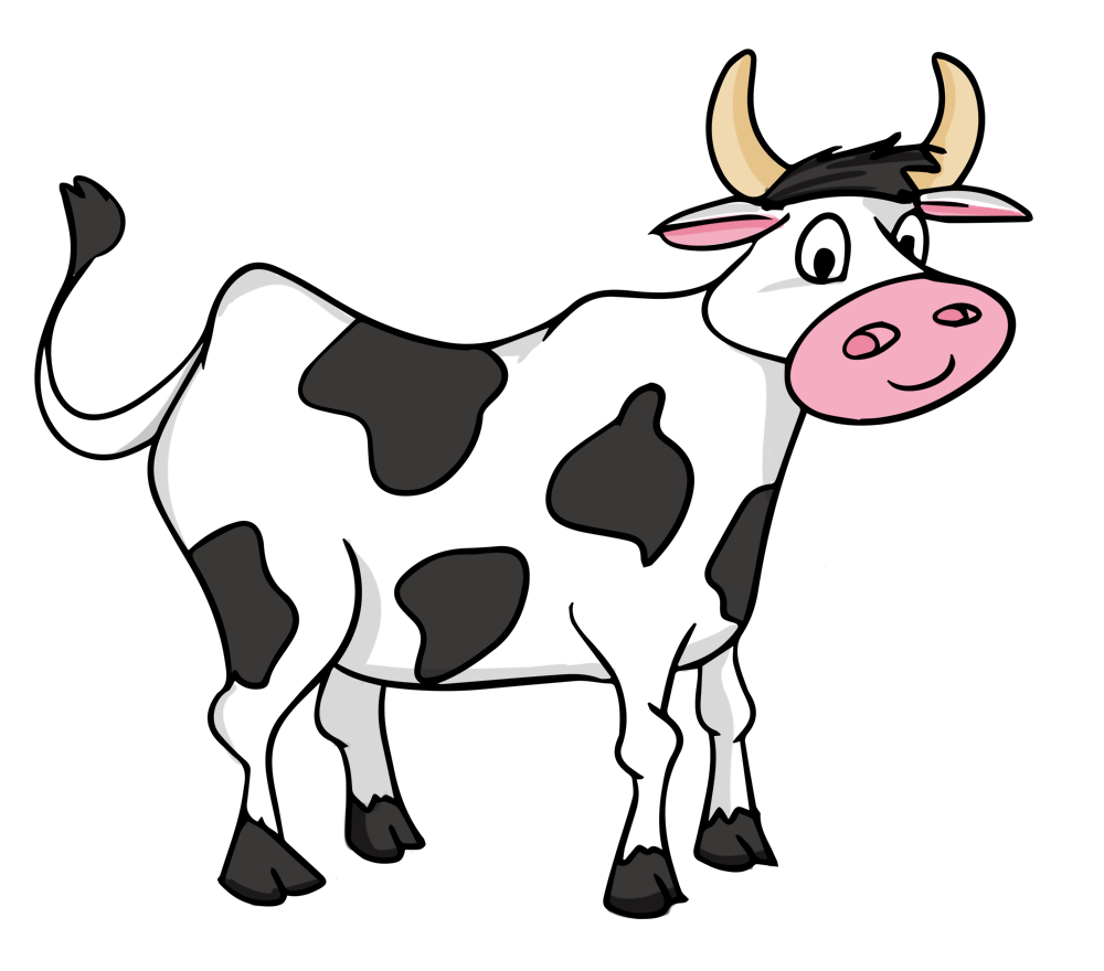 Cow clip art black and white free clipart images