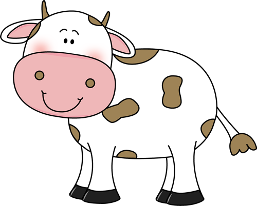Cow clip art cow with brown spots clip art image cute white