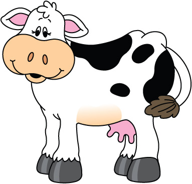 Cow clip art for kids free clipart images