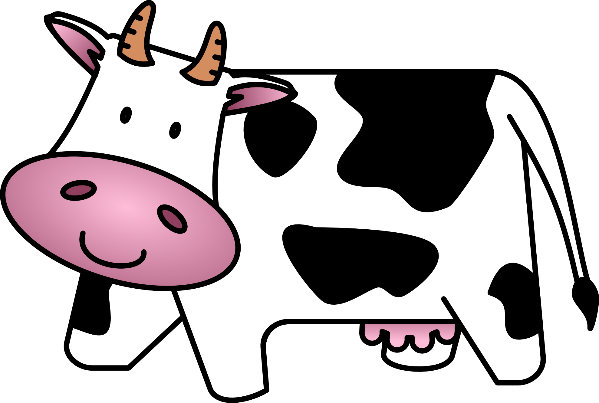 Cow clip art free cartoon clipart images clipartbarn