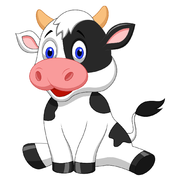 Cow clipart transparent background pencil and in color cow