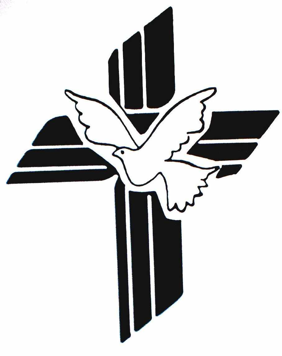 Cross and dove clipart 2