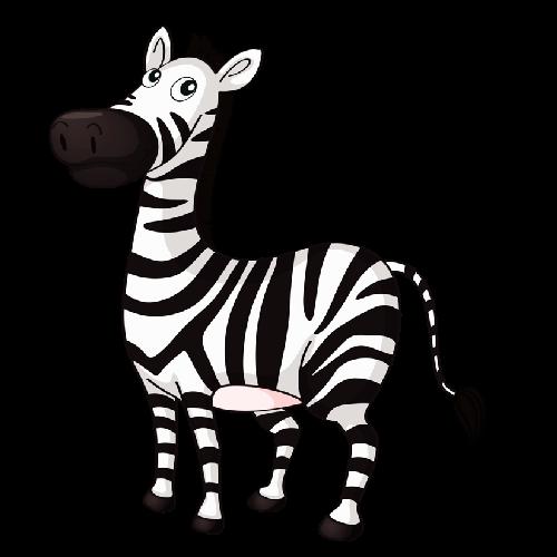 Cute baby zebra cartoon pictures clip art