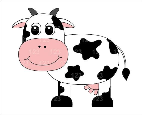 Cute cow clip art clipartbarn