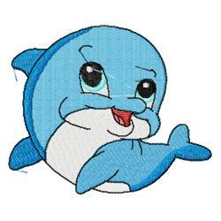 Cute dolphin clipart 2