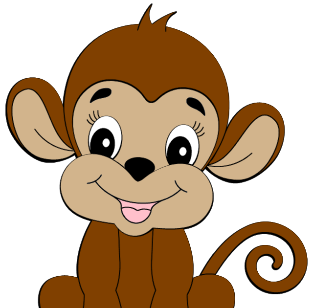 Cute monkey clipart is credited to colorful cliparts mamas