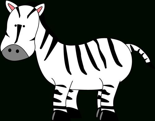 Cute zebra clipart black and white letters