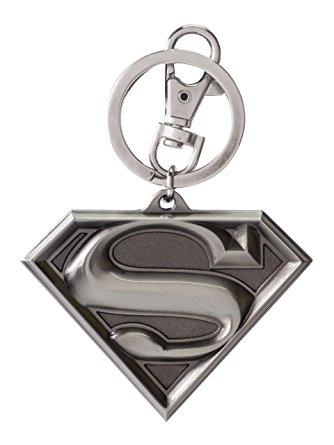 Dc superman logo pewter keyring toys