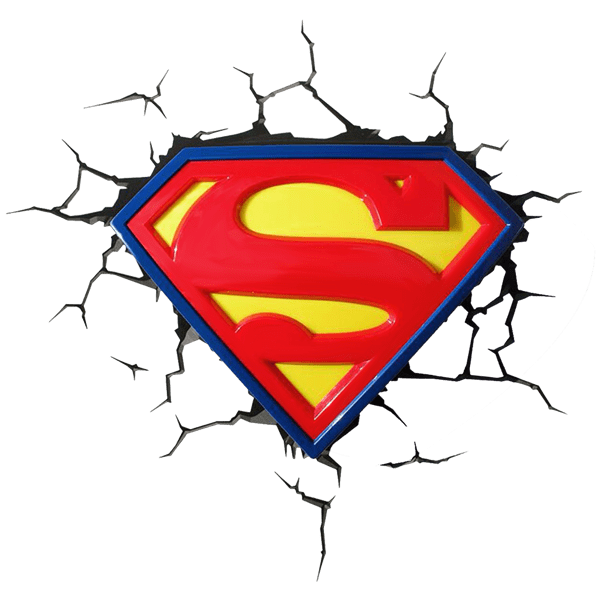 Dcics superman logo 3d light zing pop culture