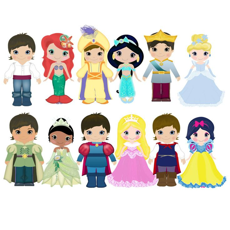 Disney prince and princess clip art digital scrap clipartandscrap