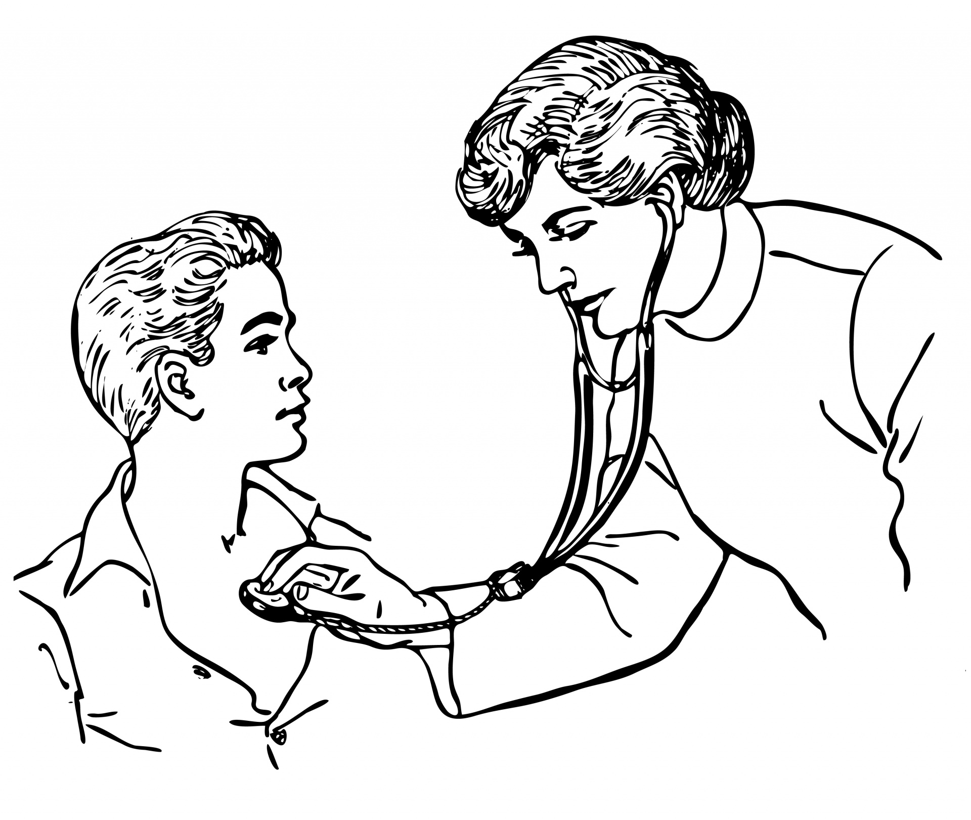 Doctor stethoscope child clipart free