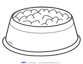 Dog bone outline bowl clipart outline pencil and in color bowl