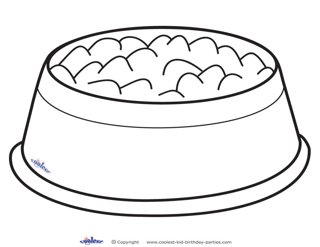 Dog Bone Outline Bowl Clipart Pencil And In Color