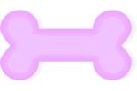 Dog bone outline pink dog bone clipart 2