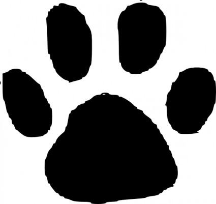 Dog paw paw print clip art 9