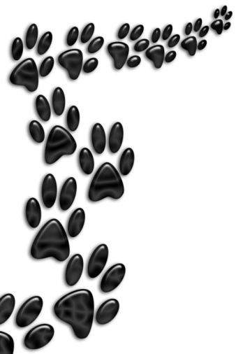 Dog paw print clip art free clipart image 2
