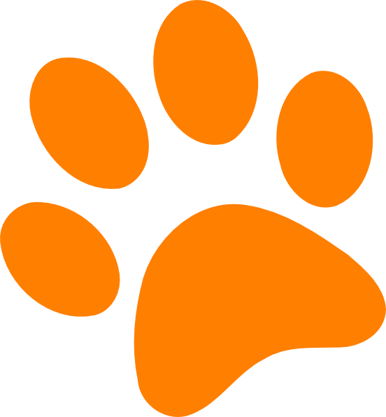 Dog paw print clip art free clipart image