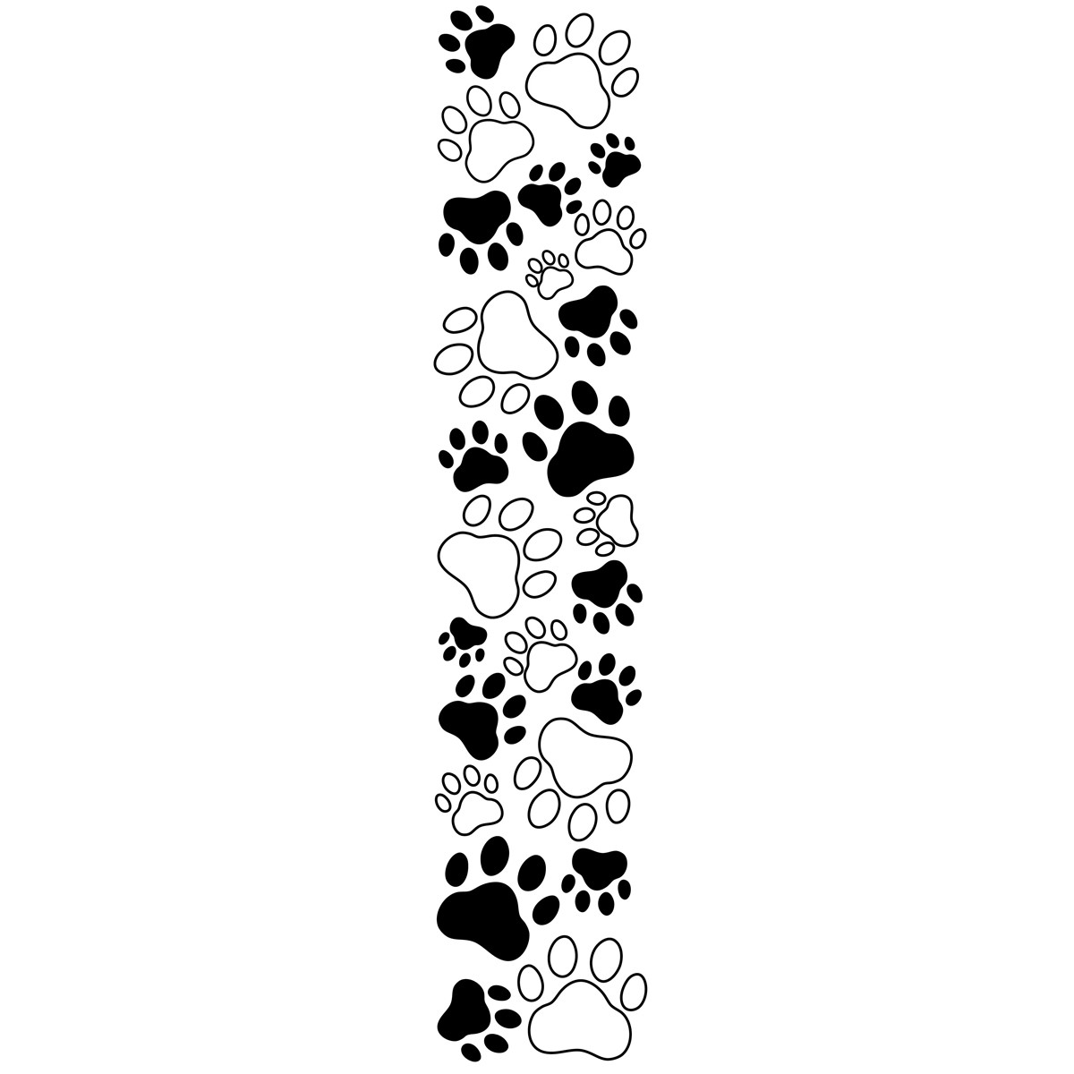 Dog paw print clip art free clipart images image