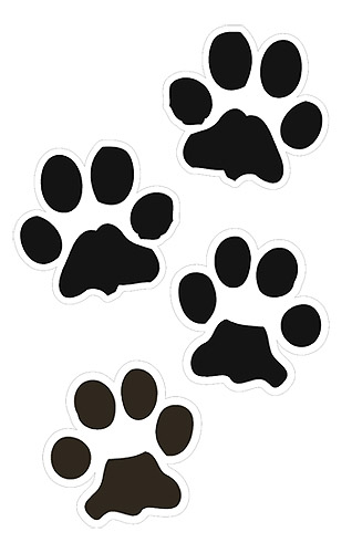 Dog paw print clip art free download 17