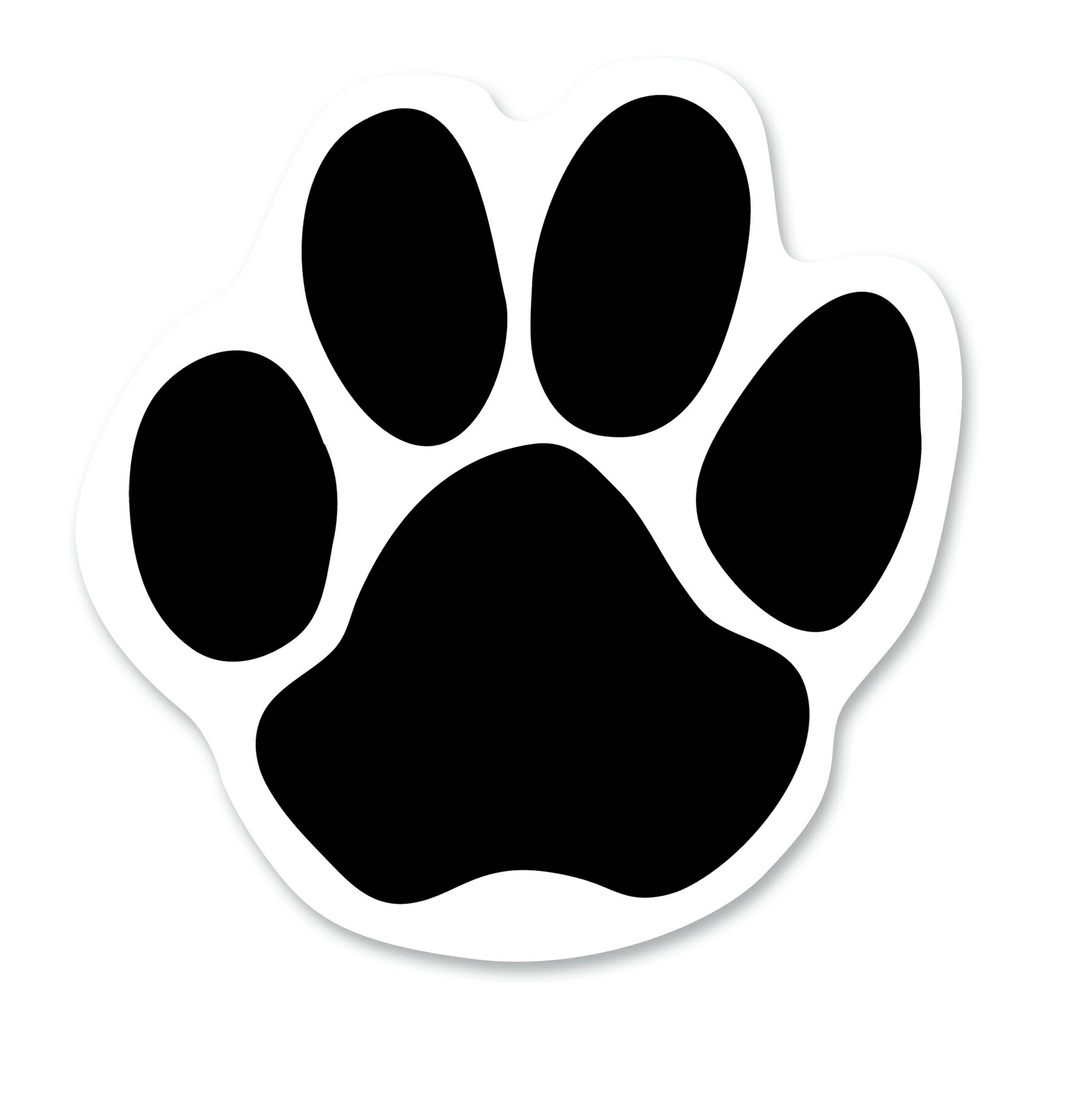 Dog paw print outline free download clip art