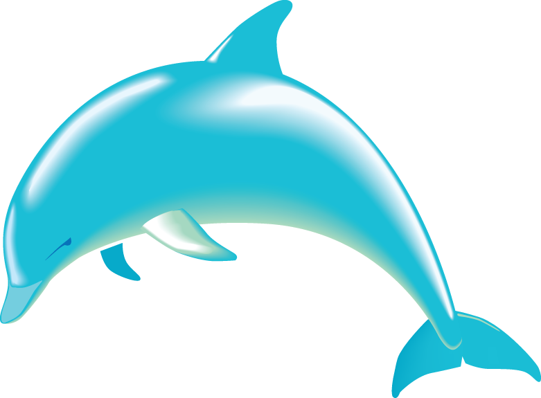Dolphin clip art black and white free 4