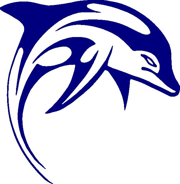 Dolphin clip art clipart image