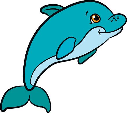 Dolphin clipground clipart