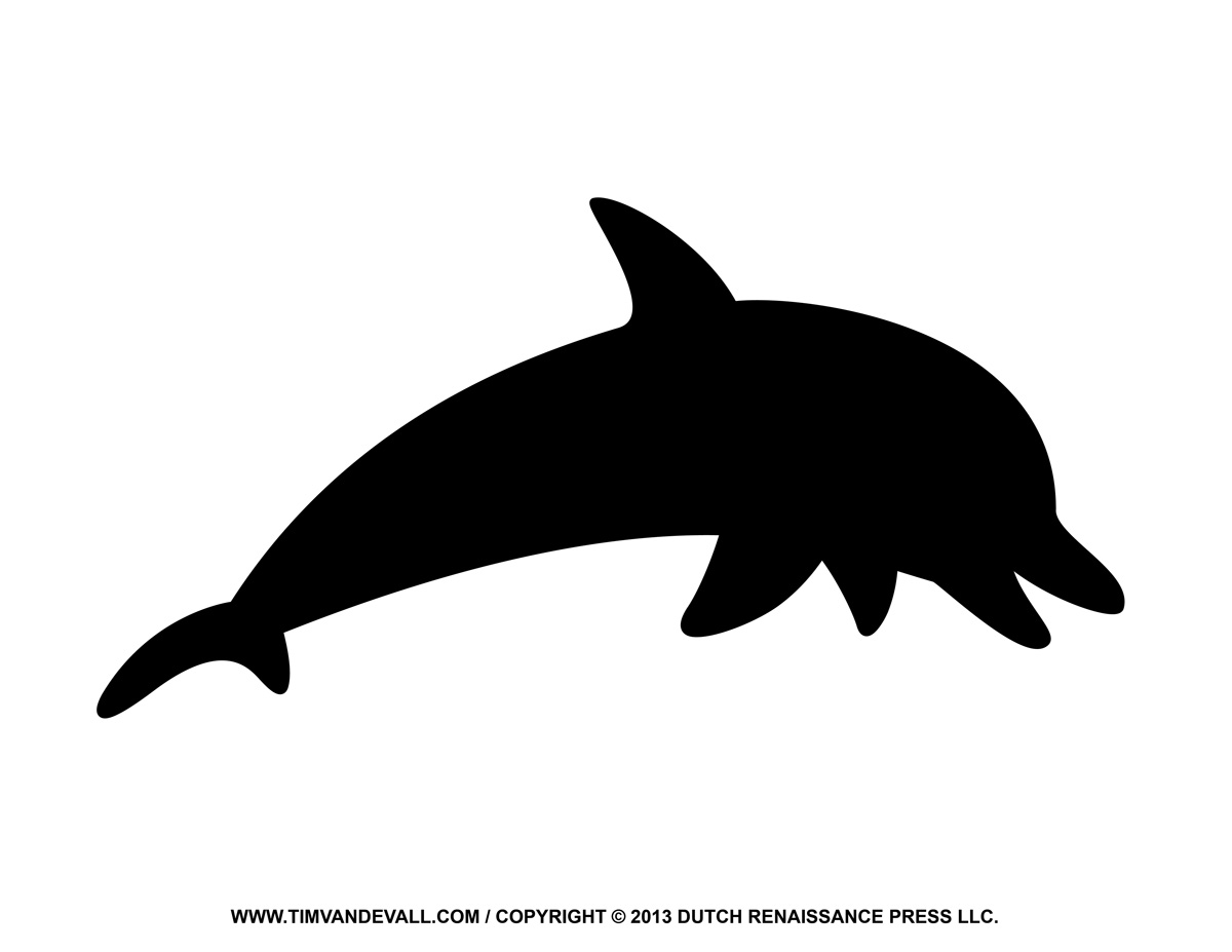 Dolphin silhouette clipart image