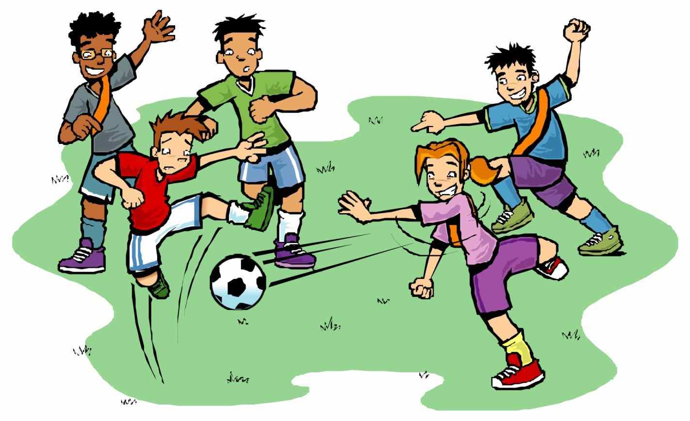 Family outdoor games clipart