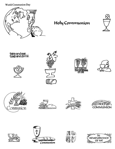 First communion communion art 2 pages of free clipart catholic