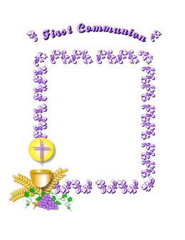 First communion firstmunion digital clip art