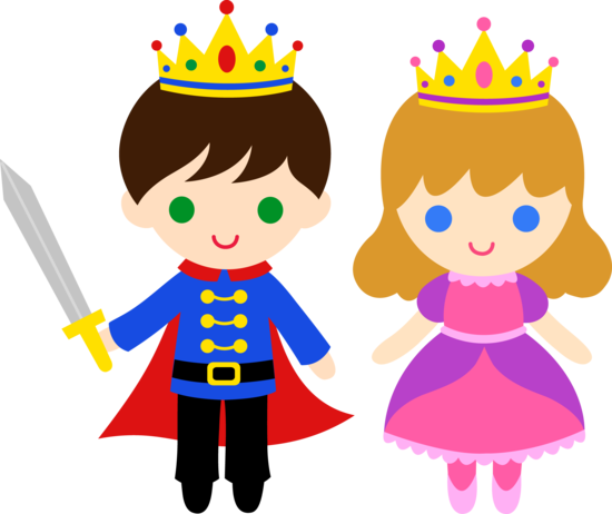 Free clip art of a cute little prince and princess sweet clip