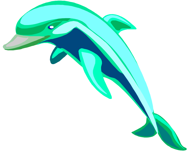 Free dolphin clipart 2