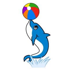 Free parent child dolphin image cartoon clip art