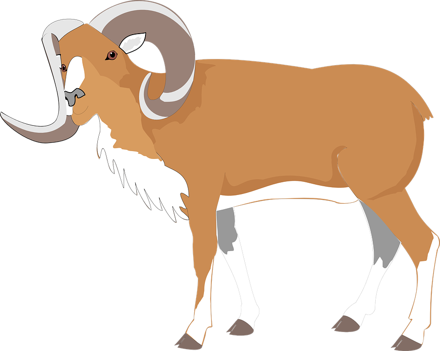 Free vector graphic ram goat brown large big image on clip art