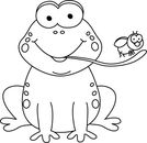 Frog  black and white black and white frog clipart clipart collection cute